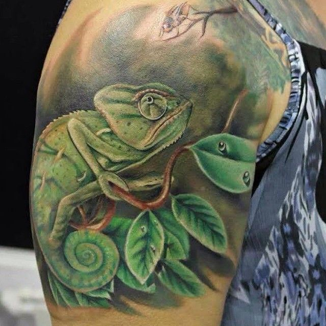 Chameleon Watercolor Tattoo: 17+ Best Ideas About Chameleon Tattoo On Pinterest