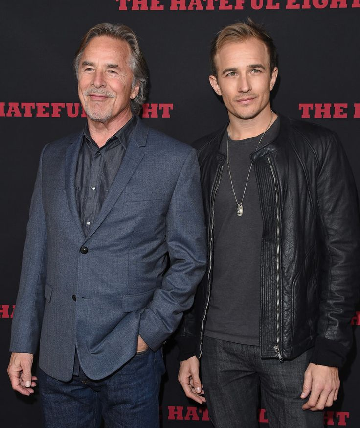Don Johnson with son Jesse Johnson