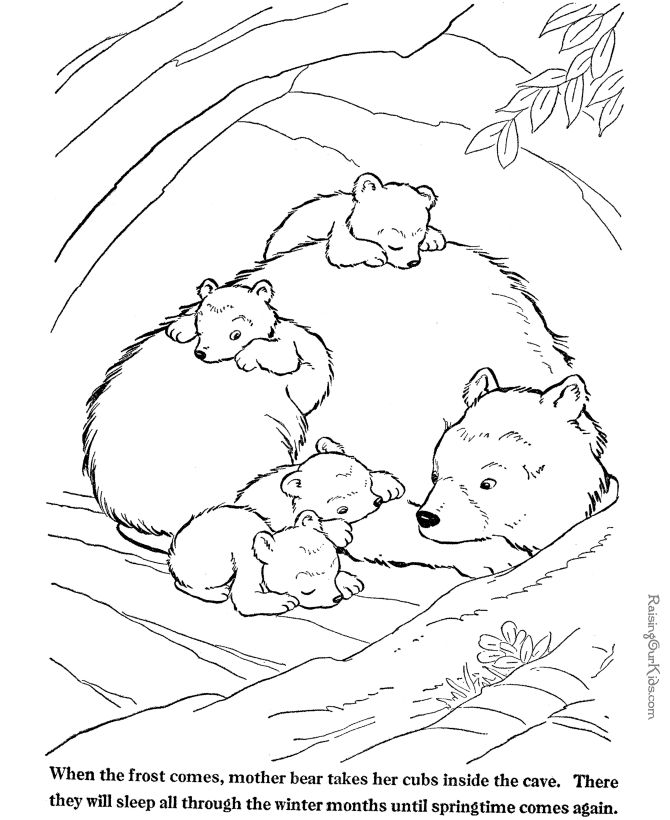 "iColor "" Little Kids Pages"" I love to color with the kids! Bear Cubs"