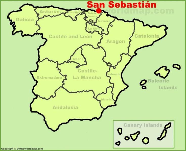 San Sebastián location on the Spain map