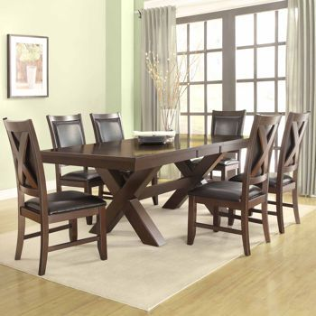 Dining Table And Chairs Leather Furniture Set 7 Piece Tables Chair