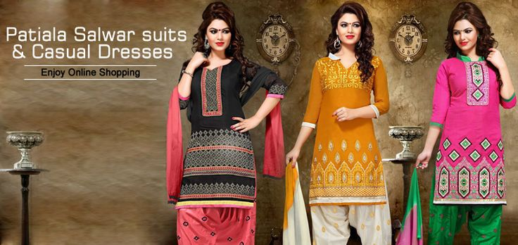 Wide range of patiala salwar suits and casual dresses online shopping from online shopping store Utsav Saree @ http://utsavsaree.in/patiala-salwar-suits-casual-dresses-online-shopping/