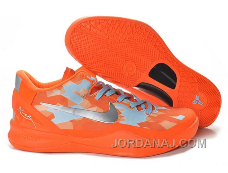 Cheap Womens Nike Kobe 8 Orange Silver For Sale