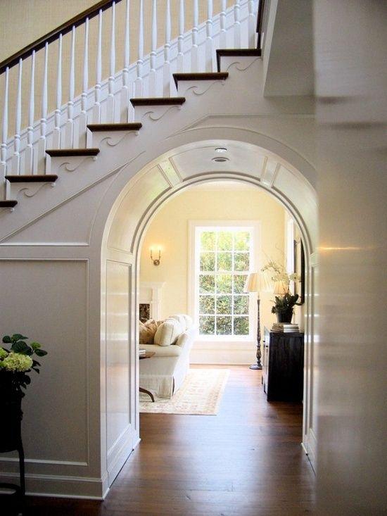 Passage en arc sous escalier ms plus mince