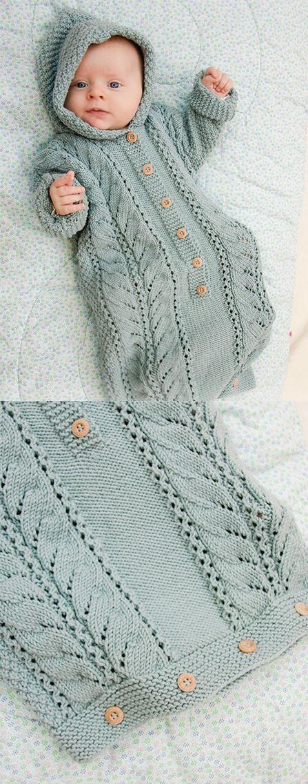 Free Knitting Pattern for Cable Snooze Baby Sleeping Bag – Nurhan Kılıç