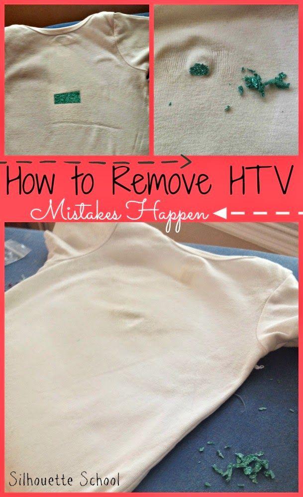 How to Remove Heat Transfer Vinyl Mistakes