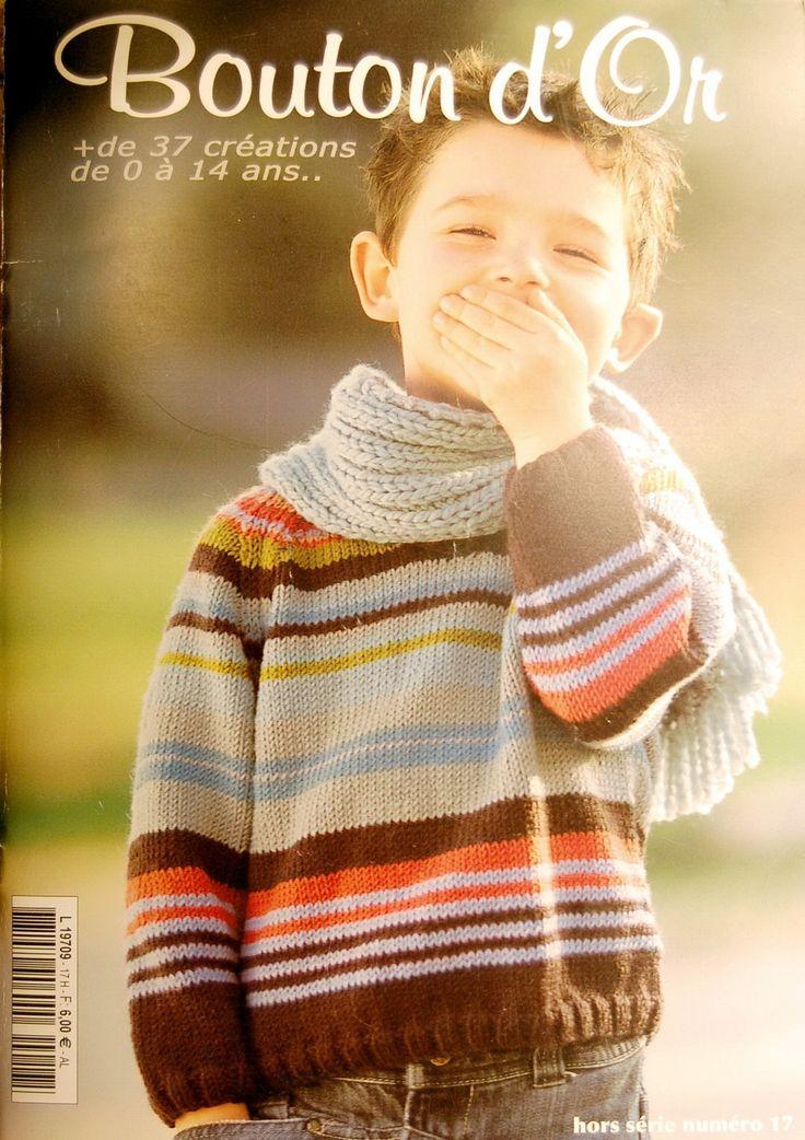 Receita Tricô Fácil   Revista Bouton d'Or Nº17 Tricô   Mais de 37 criações em trciô de 0 a 17 anos                                   ...