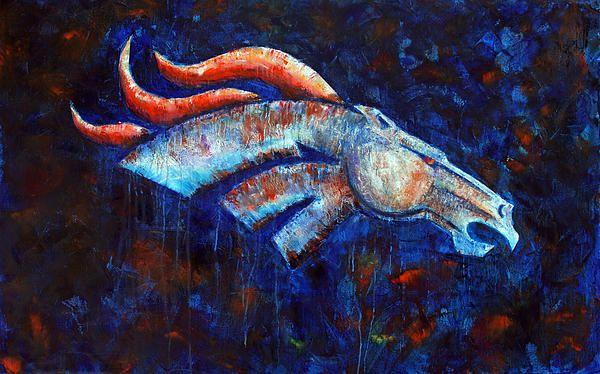 denver broncos painting