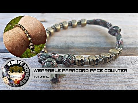 How To Make Use A Paracord Pace Counter Bracelet Youtube With