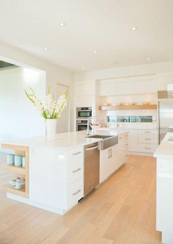 6 trucs pour faire paraître une cuisine plus grande via blancgrenade.com