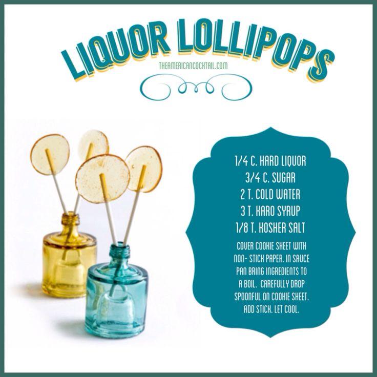 Liquor Lollipops on Pinterest | Lollipop Recipe, Lollipops and Liquor ...