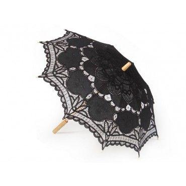 Lace Umbrella Parasol for Wedding Parties BLACK