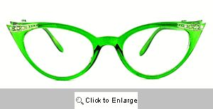 Fete Jeweled Cat Eye Glasses - 539 Green