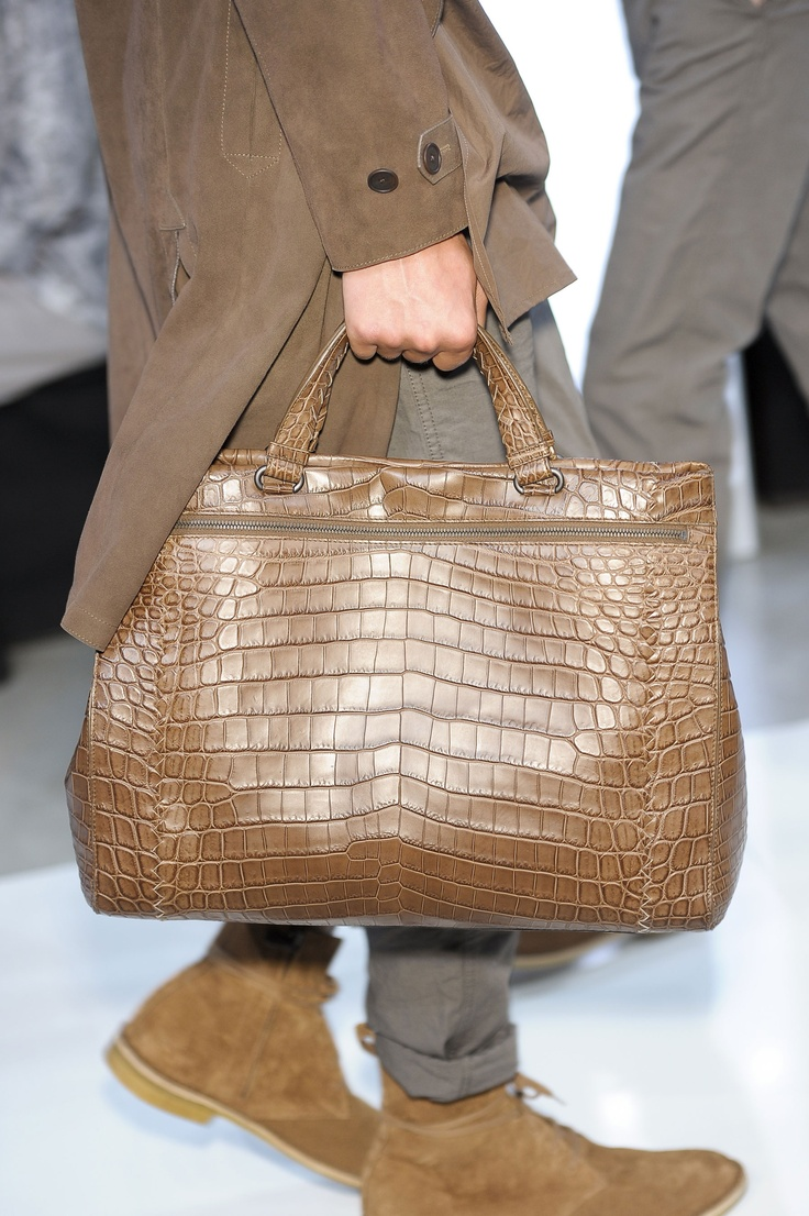 Bottega Veneta Crocodile Leather Briefcase