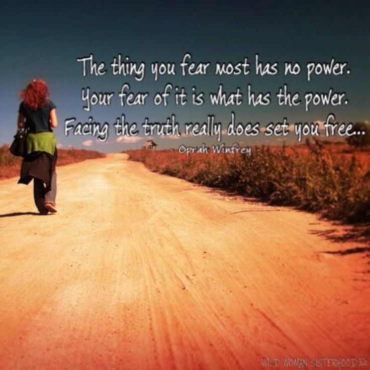 The thing you fear most has no power. Your fear of it is what has the power. Facing the truth really will set you free. - Oprah Winfrey - WILD WOMAN SISTERHOODॐ #WildWomanSisterhood #wildwomenchangingtheworld #wildwomanmedicine #wildwoman #EmbodyYourWildNature