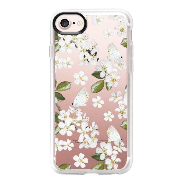 Floral Theme - iPhone 7 Case And Cover (€36) ❤ liked on Polyvore featuring accessories, tech accessories, iphone case, apple iphone case, floral iphone case, iphone cover case, iphone cases and clear floral iphone case