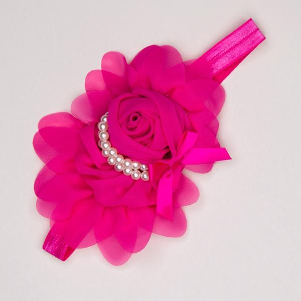 Kidz Outfitters 5.25 Inches Flower Headband by Kidz Outfitters - KidzOutfitters.com Item  C1200001 Fuchsia