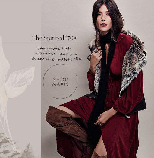 Líneas de moda exclusivas · Modas bohemias en Free People collection autum/winter 2015