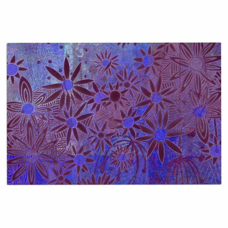 "Marianna Tankelevich ""Purple Night"" Purple Blue Decorative Door Mat"