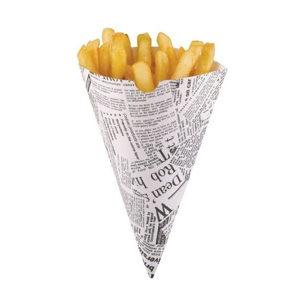 how to make paper cones for fish and chips