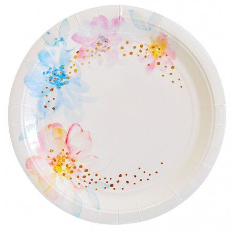 Let's Party With Balloons - Floral Luncheon Paper Plates   Illume Design, $15.00 (http://www.letspartywithballoons.com.au/floral-luncheon-paper-plates-illume-design/)