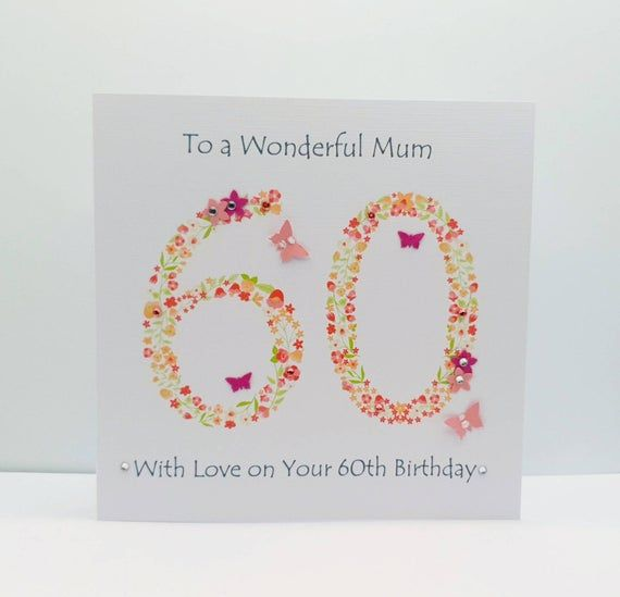 Personalised Mum 60th Birthday Card 60th Birthday Card Etsy 60th Birthday Cards Birthday Cards Birthday Cards For Women