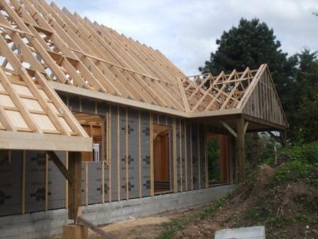 Constructeur à Barentin d'habitat en ossature bois en Normandie Seine-Maritime 76