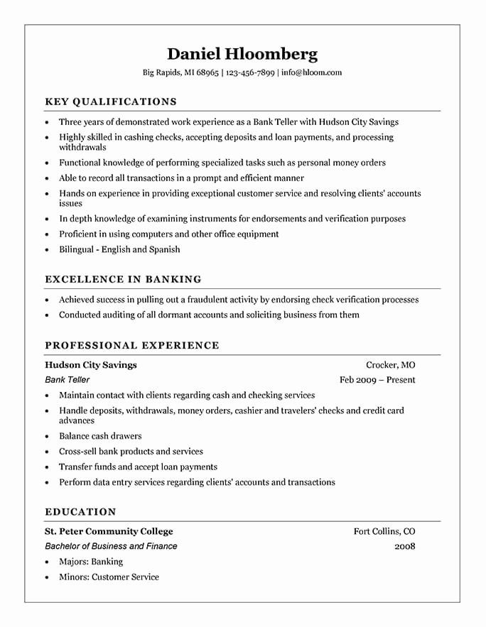 Resume Objectives For Bank Tellers Inspirational Cashier Resume Templates And Job Tips In 2021 Good Resume Examples Bank Teller Resume Job Resume Samples