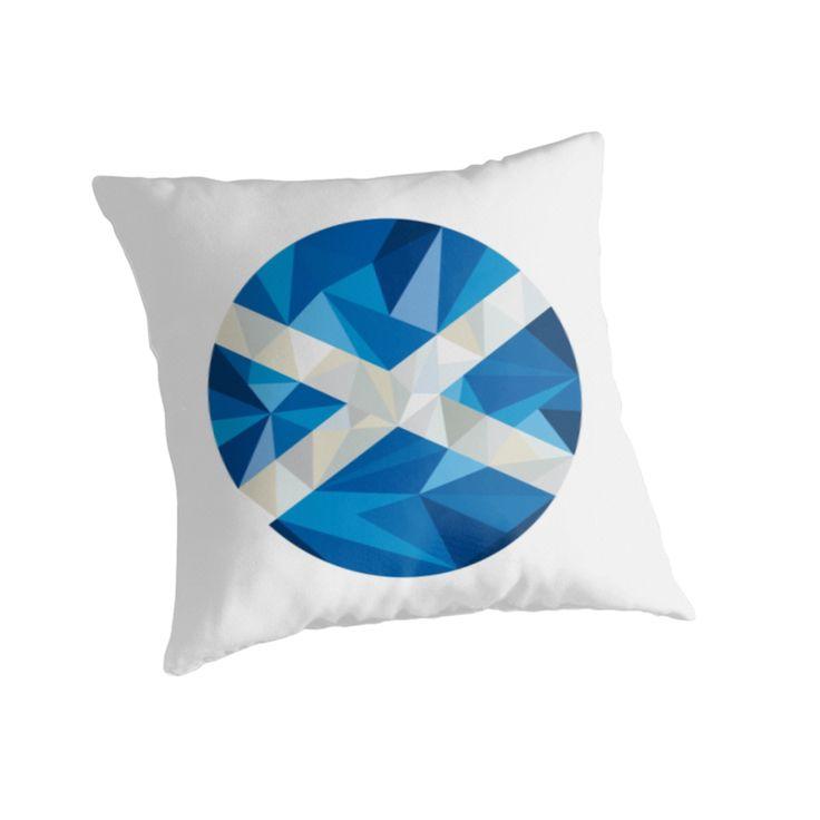 Scotland Flag Icon Circle Low Polygon by patrimonio