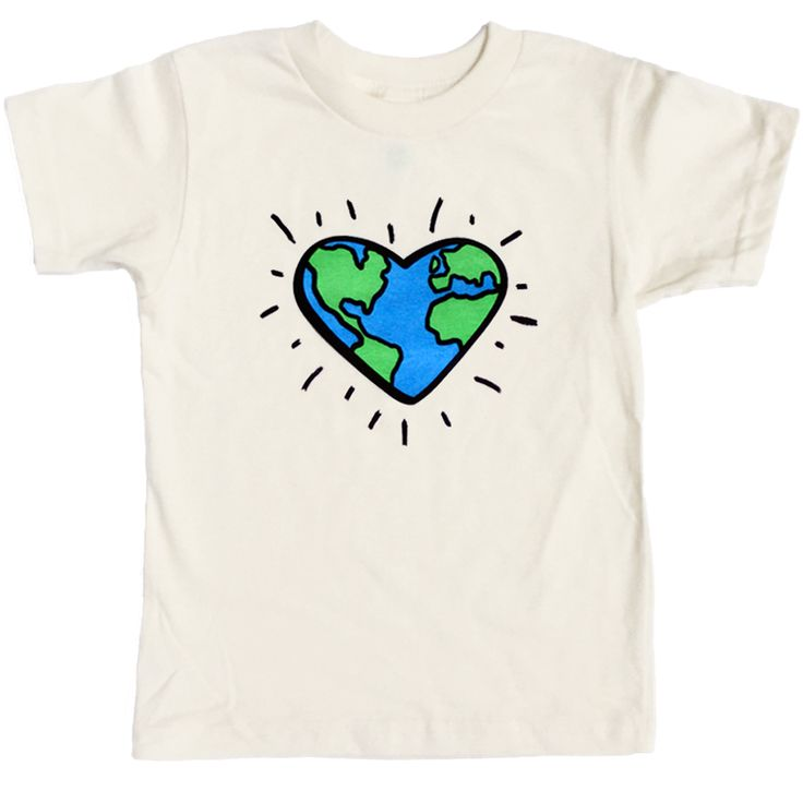 Love The Planet T-Shirt - Organic Clothing By Wolf Pup Threads - 1