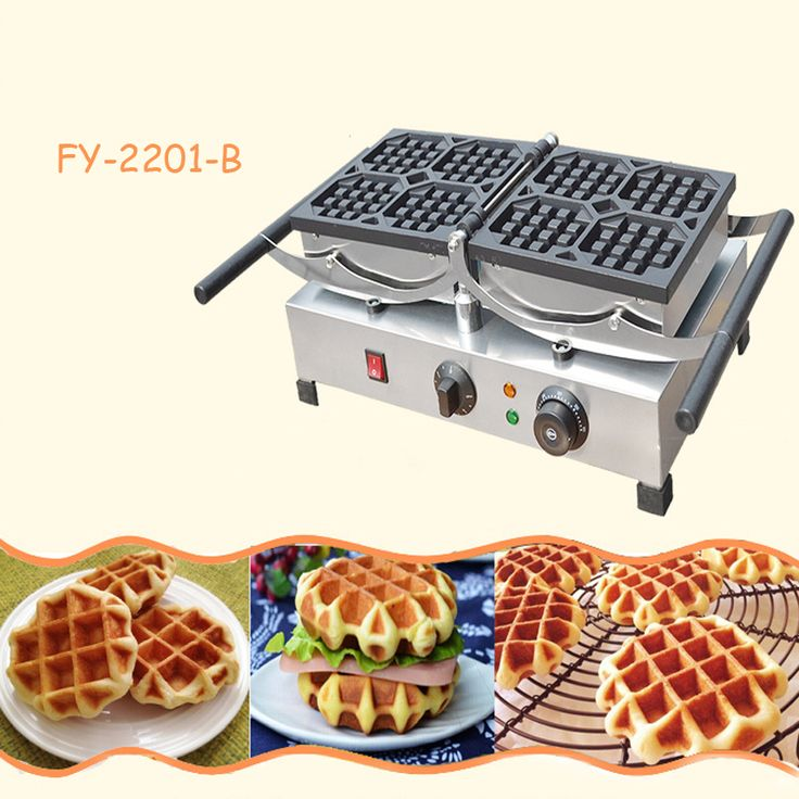 Black Length 23 5CM Household Waffle Griddle Scones Muffin Cake Machine