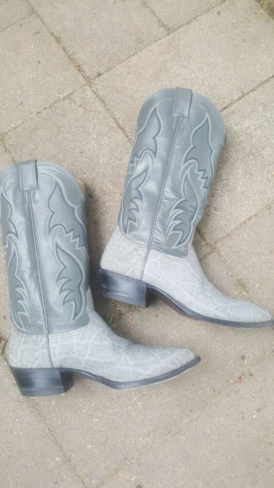 e2e08268ca6 Nocona Mens Boots gray #4717C Leather Western Cowboy Size 9D ...