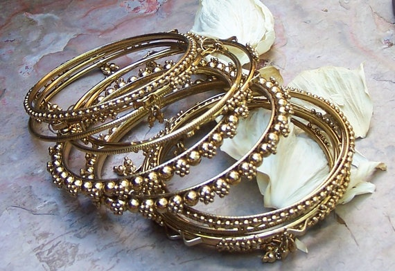 Gold Bangles with a little something more