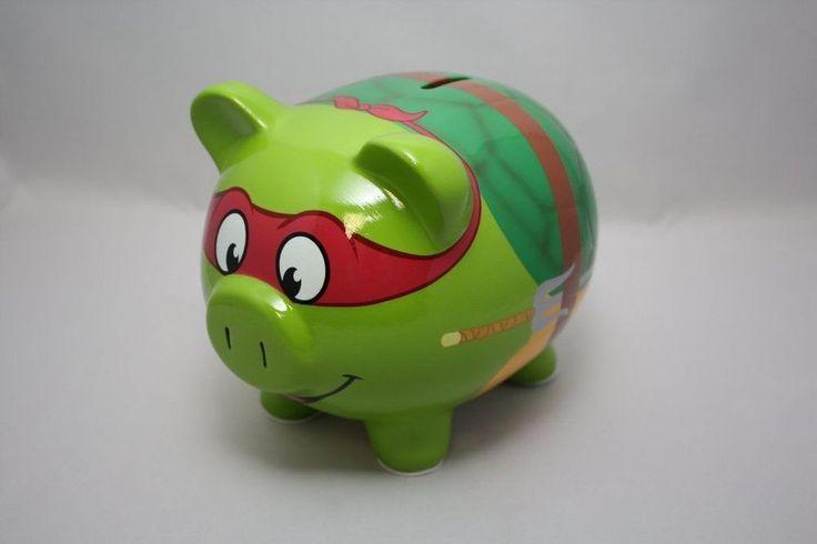TEENAGE MUTANT NINJA TURTLES RAPHAEL CERAMIC FAT PIGGY BANK ROOM DECOR COIN NEW #FABSTARPOINT