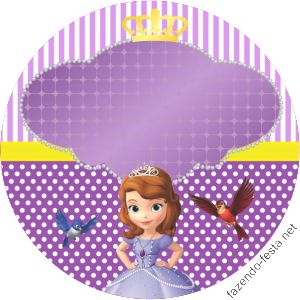 kit festa princesa sophia latinha