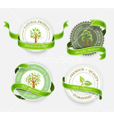 Collection of green stickers vector 1935865 - by -Baks- on VectorStock®