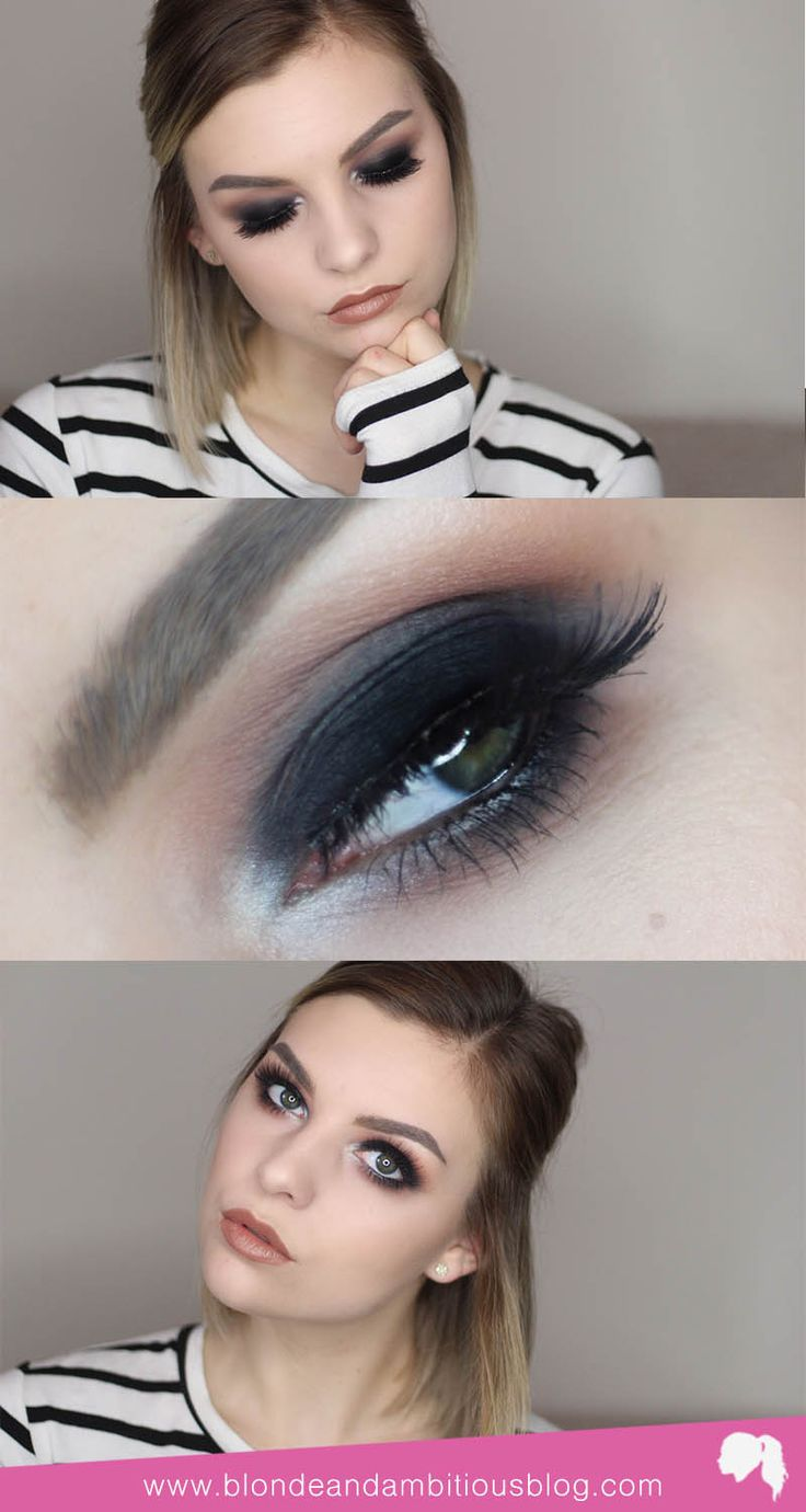Sexy, sultry black out smokey eye video tutorial - PERFECT for your next winter date night | smokey eye, smokey for brown eyes, smokey eye for green eyes, smokey eye for blue eyes, smokey eye tutorial, smokey eye makeup, smokey eyes, black smokey eye, black smokey eye tutorial, black smokey eye dramatic, black smokey eye makeup