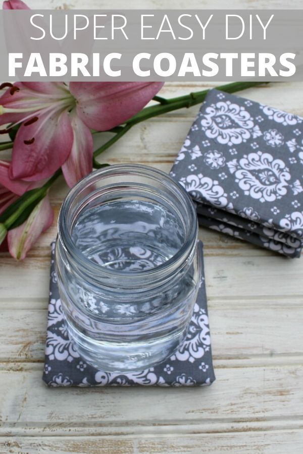 Make Your Own Coasters Fabric Crafts No Sew Crafts Decorative Coasters Diy Homemade Coasters Holiday Gift Ideas Fabric Coasters Diy Coasters Homemade Coasters