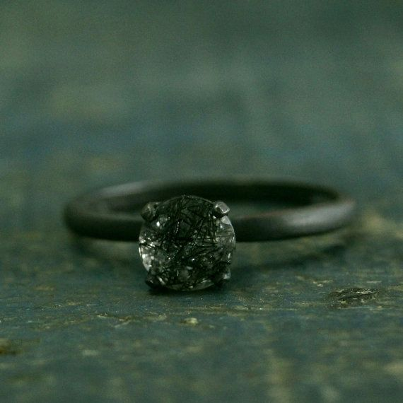 Hey, I found this really awesome Etsy listing at https://www.etsy.com/uk/listing/261358865/flat-black-engagement-ring-oxidized