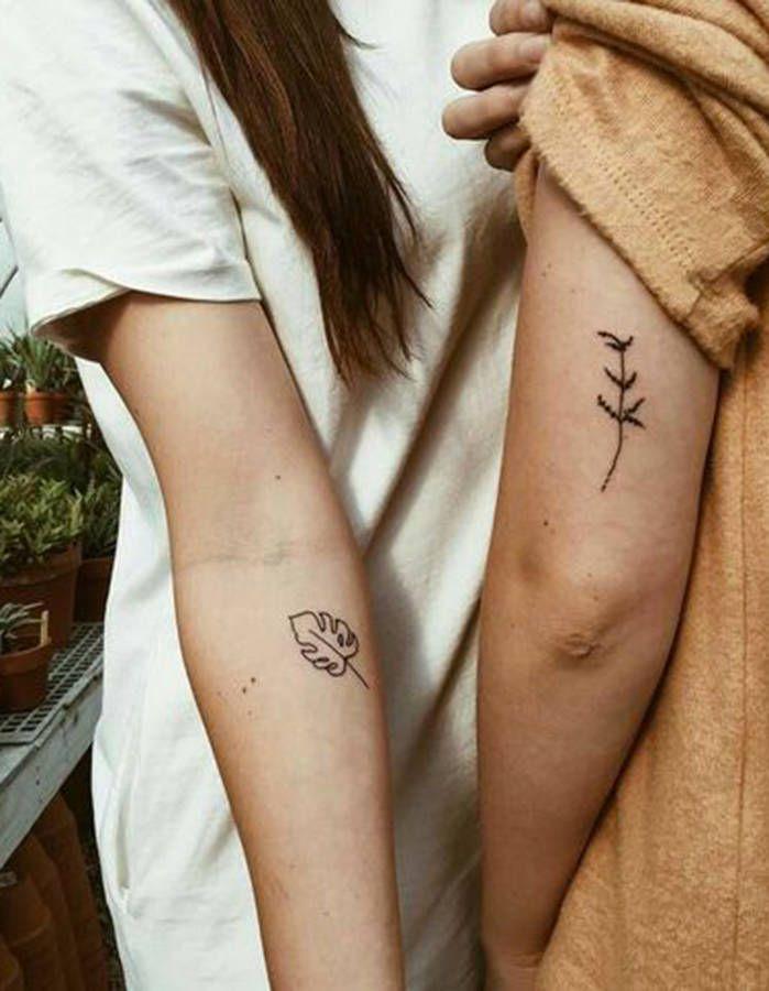 Tatouage végétal en couple