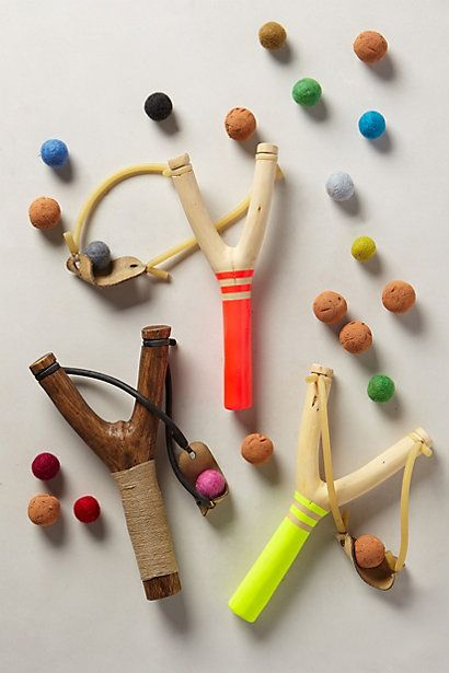 Keep the kids happy and the yard blooming. Seed Bomb Slingshot Balls - anthropologie.com #Anthropologie #PinToWin