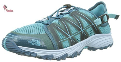 The North Face Litewave Amphibious, Sandales de Sport Homme, Gris/Vert (Zinc Grey/Lantern Green), 47 EU