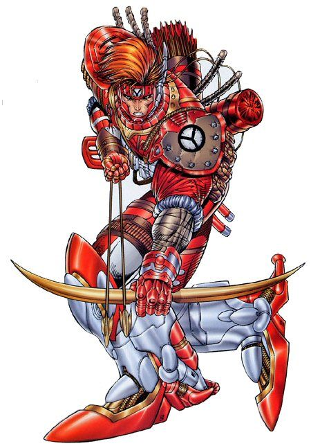 Shaft of Youngblood.  Art by Rob Liefeld.
