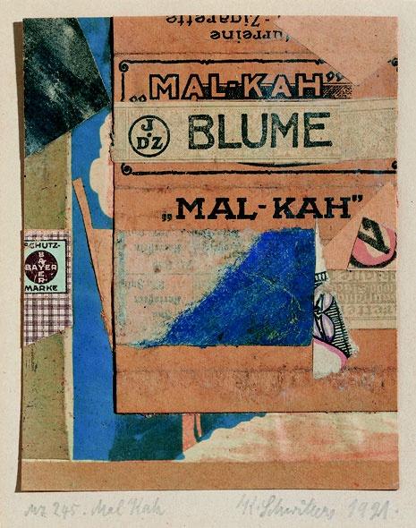 """Kurt Schwitters, """"Mal Kah,"""" 1921"""