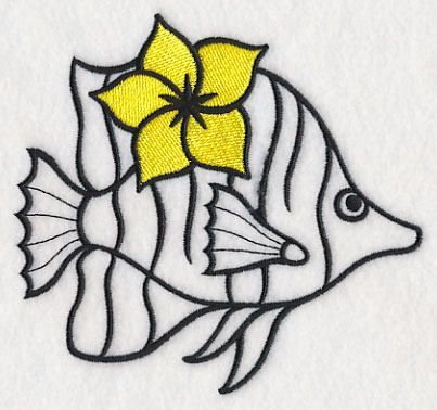 Fish Towel - Embroidered Fish Towel - Tropical Fish - Flour Sack Towel - Hand Towel - Bath Towel - Apron - Fingertip Towel by misty1718 on Etsy