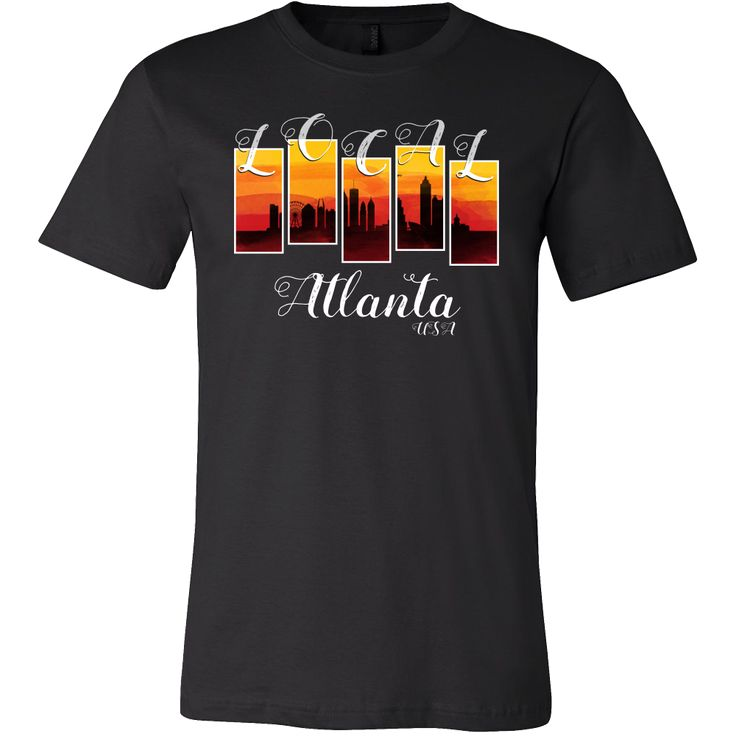 Atlanta USA Map Origin Local Urban Home Skyline Shirt