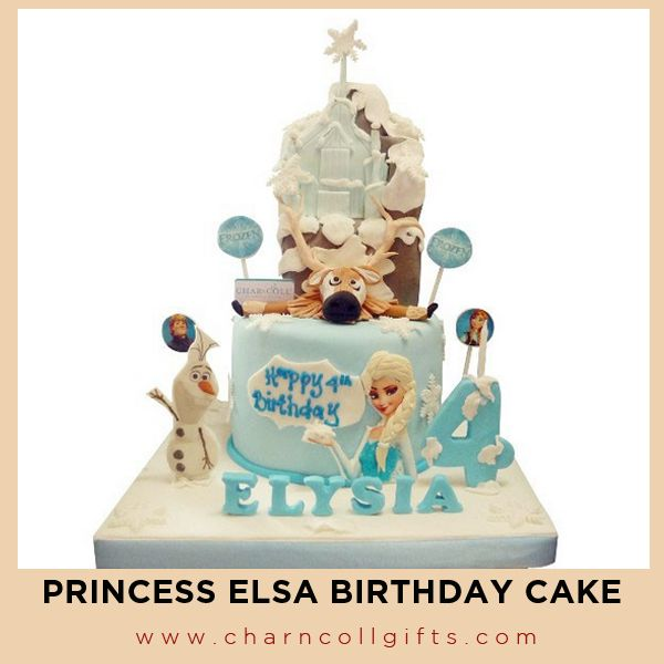 Princess Elsa Birthday Cake | Perfect theme for your children Birthday party | Order now : www.charncollgifts.com | +6221-7509476 / +6221-7197234 #Cake #Birthday #Party #Frozen
