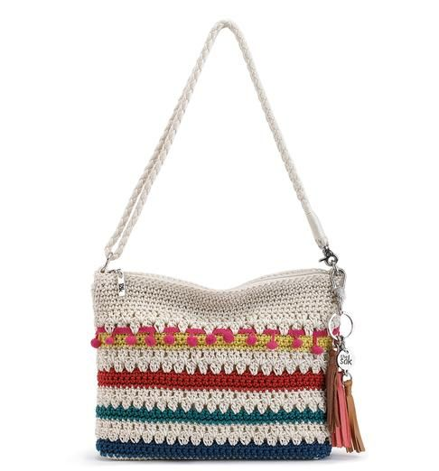 Infuse your look with fun flavor with our new Casual Classics 3-in-1 Demi in Global Multi. This colorful hand-crocheted demi can also be worn as a clutch or crossbody, perfect for any occasion.