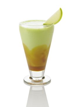 Caramel Apple Smoothie Recipe  INGREDIENTS:  1  fl oz.  Davinci Gourmet -   Caramel Sauce  1 pump(s)    8  fl oz.  Jet™ - Intense Green Apple Real Fruit Smoothie Mix      1  fl oz.  Cupful of Ice      DIRECTIONS:  Pump sauce into bottom of glass and swirl around inside of glass so caramel is on all sides of the glass (like a caramel apple). Blend Apple Smoothie mix with ice and pour into glass and garnish with apple slices.    This is one of our favs. Get it at CoraInc.com. Home users…