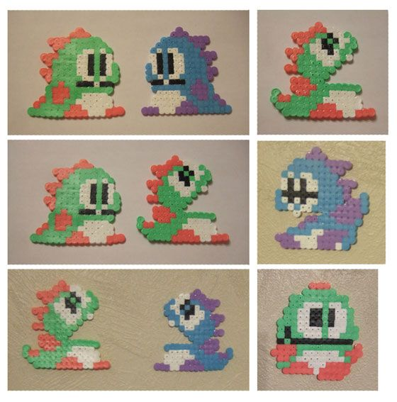 Don't you like Bubble Bobble dragons? They are extremely cute!    Bubble Bobble hama beads by Hunajasieni on deviantART